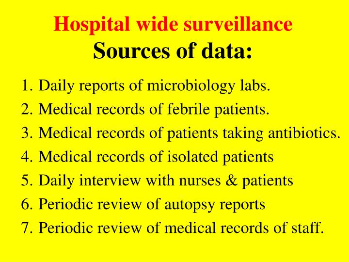 Hospital wide surveillance
