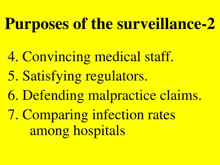 Purposes of the surveillance-2