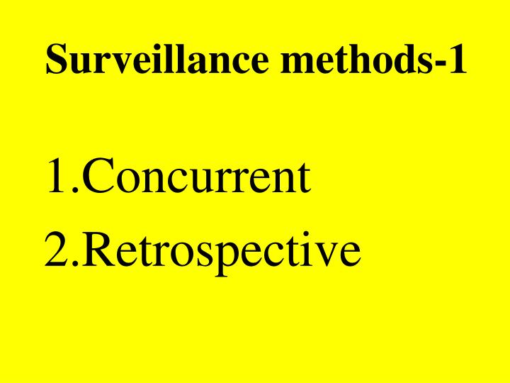 Surveillance methods-1