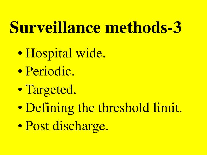 Surveillance methods-3