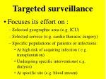 targeted surveillance