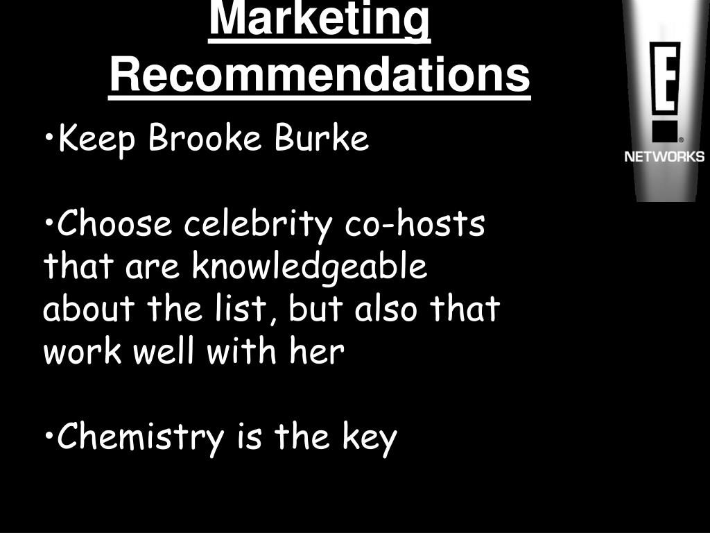 Marketing Recommendations