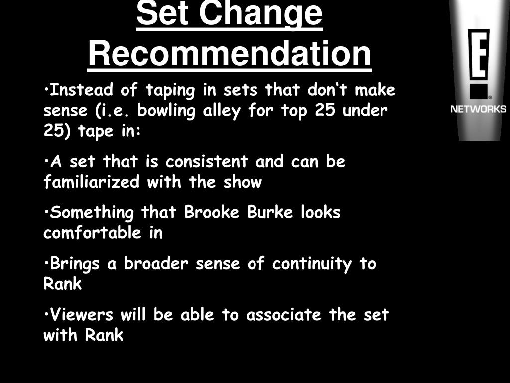 Set Change Recommendation