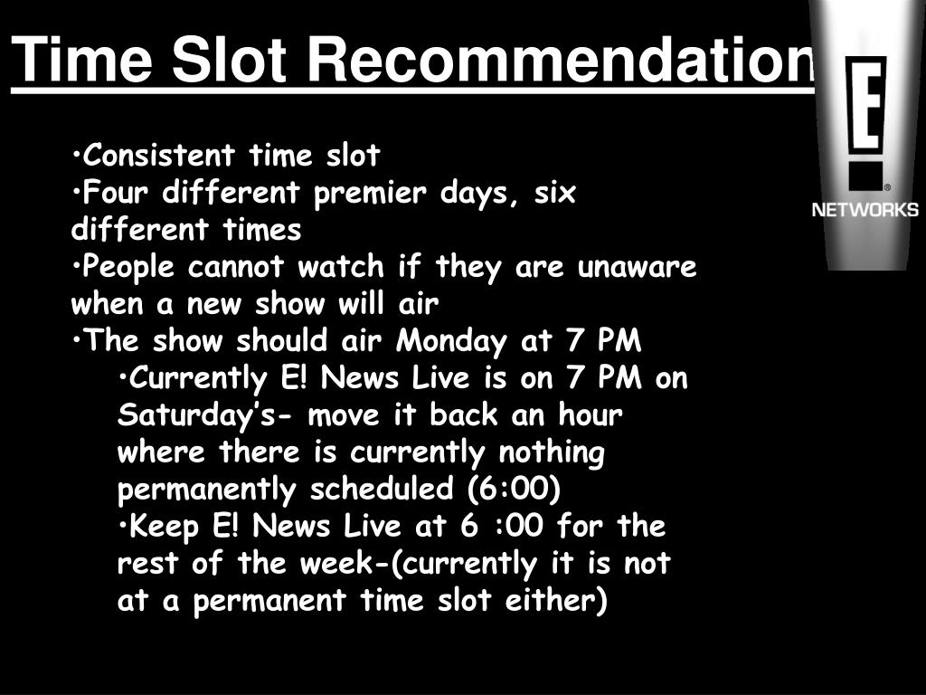Time Slot Recommendation