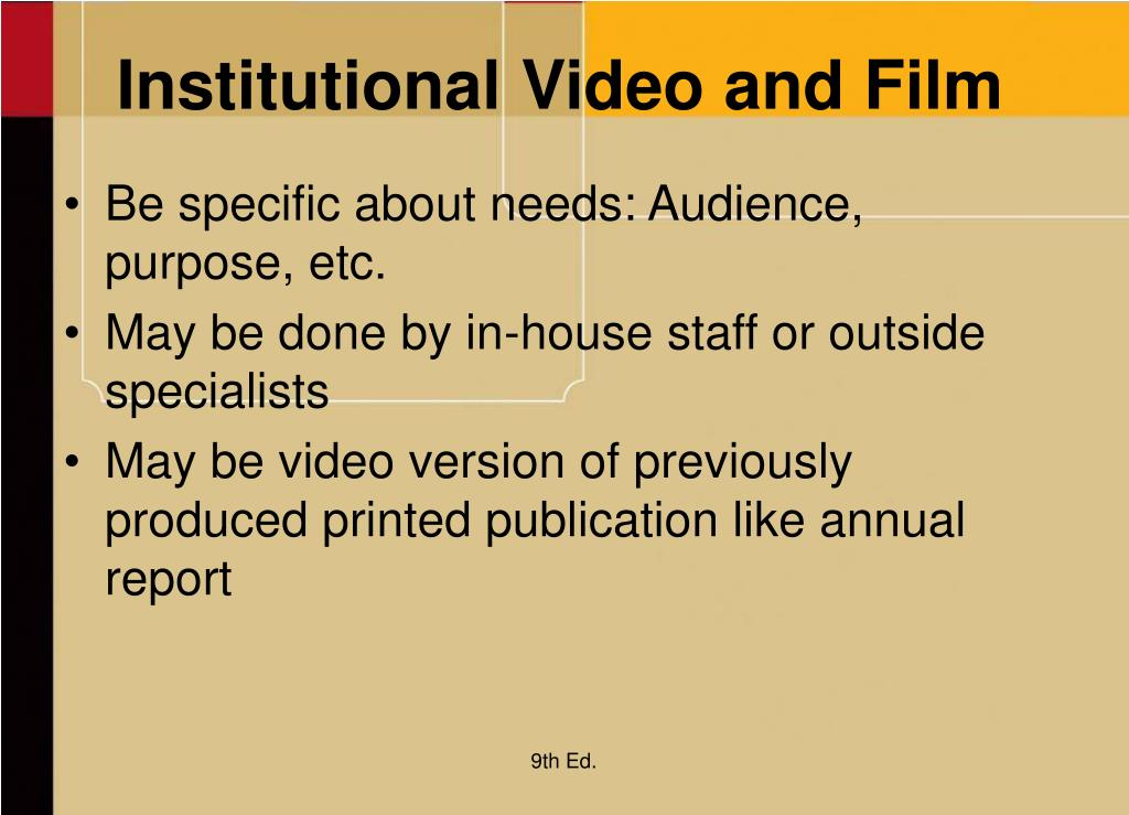 Institutional Video and Film
