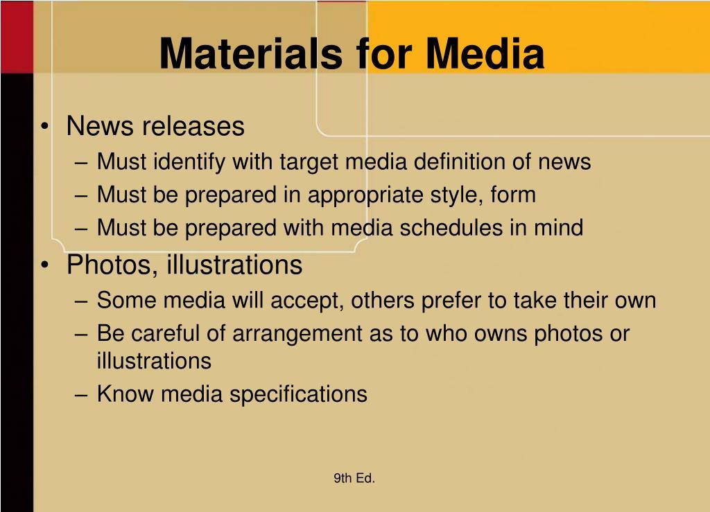 Materials for Media