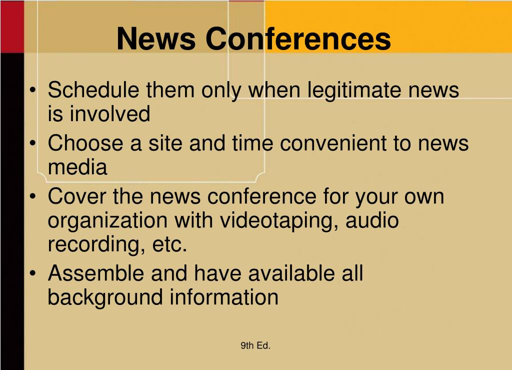 News Conferences