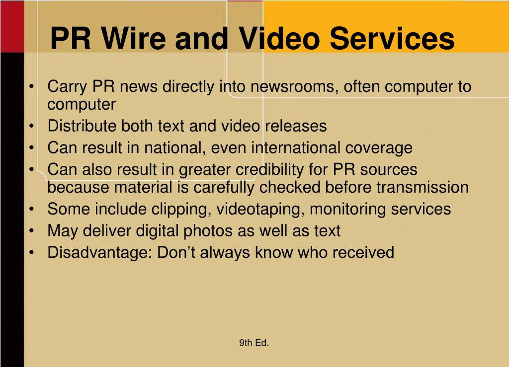 PR Wire and Video Services