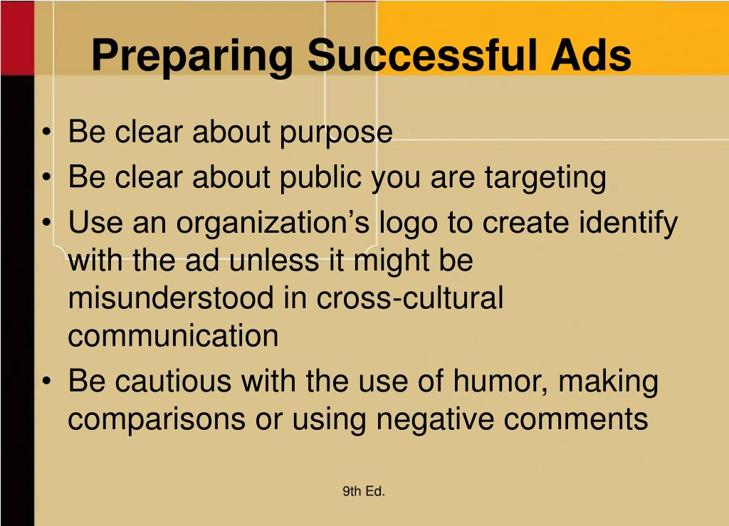 Preparing Successful Ads
