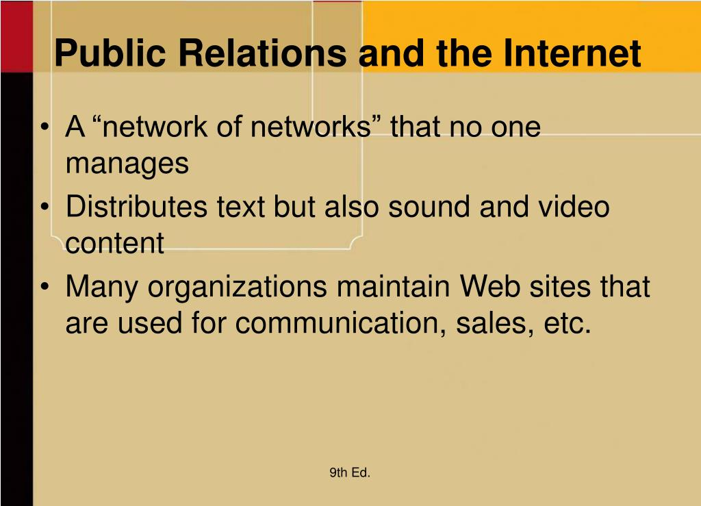 Public Relations and the Internet