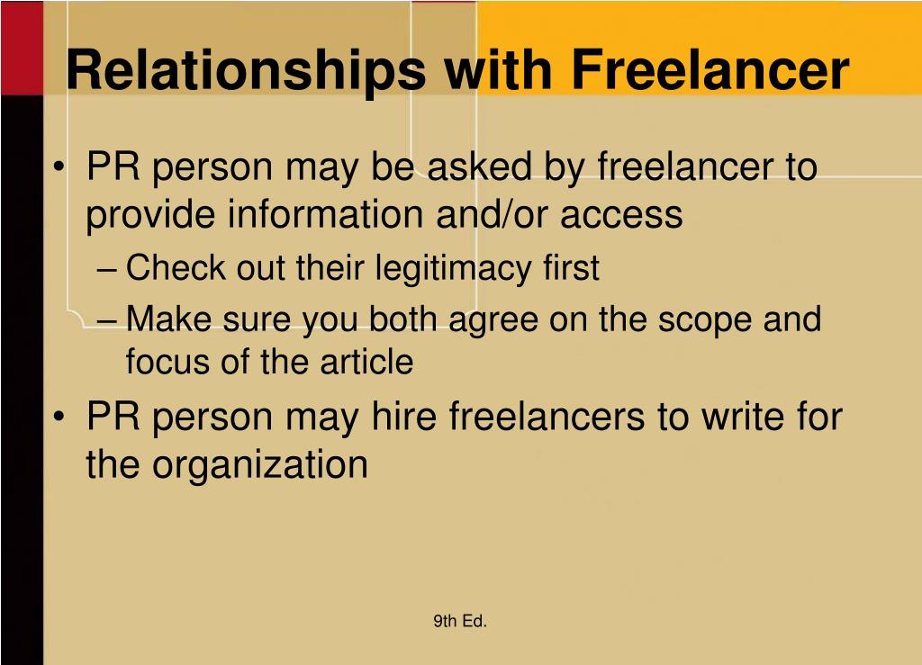 Relationships with Freelancer