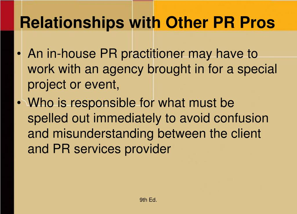 Relationships with Other PR Pros