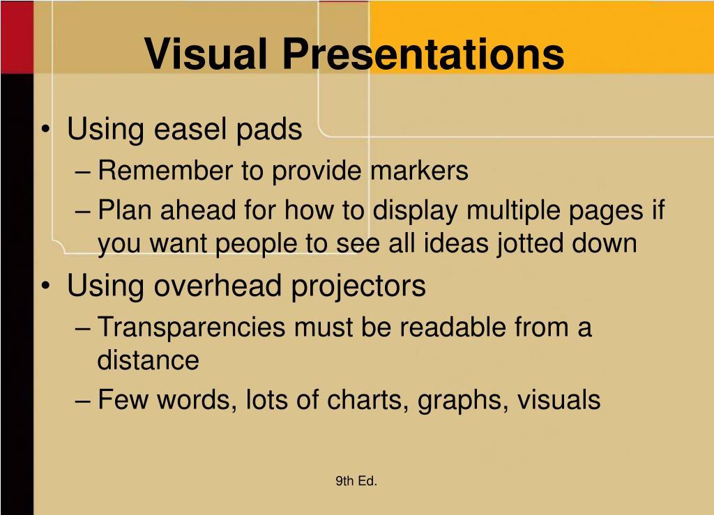 Visual Presentations
