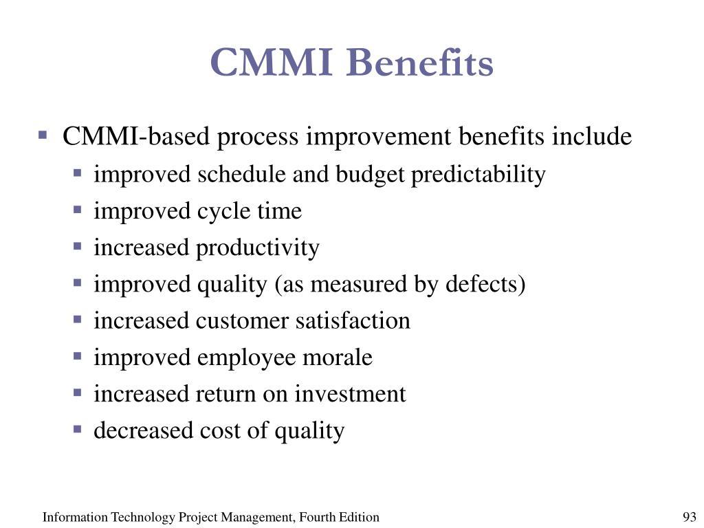 CMMI Benefits