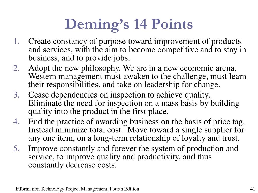 Deming's 14 Points