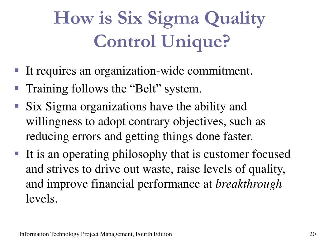 How is Six Sigma Quality