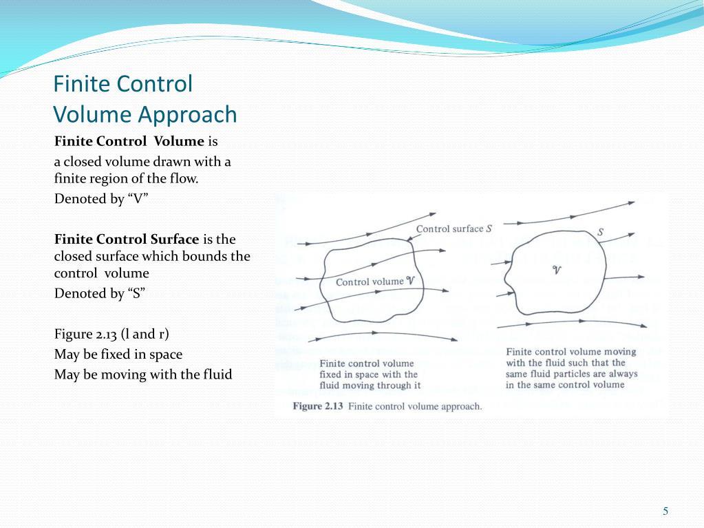 Finite Control Volume Approach