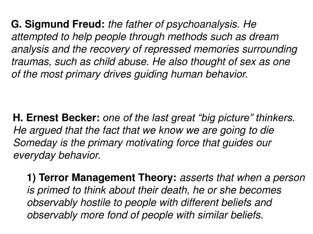 G. Sigmund Freud: