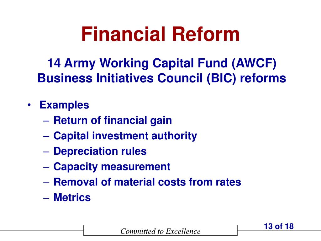Financial Reform