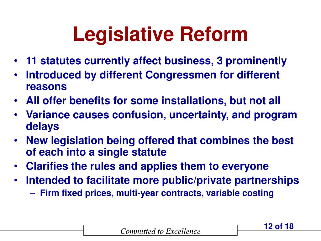 Legislative Reform