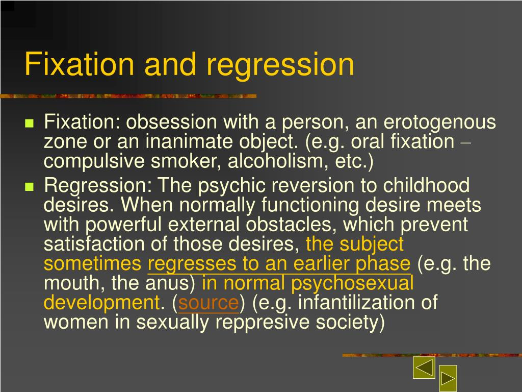 Fixation and regression