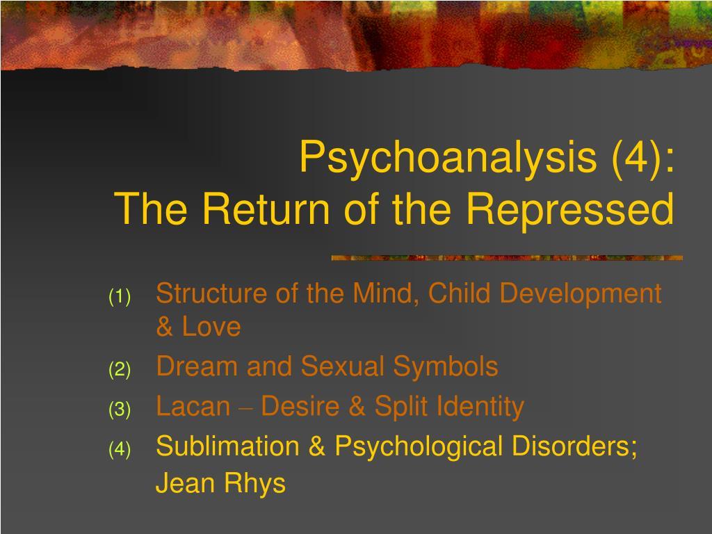 Psychoanalysis (4):