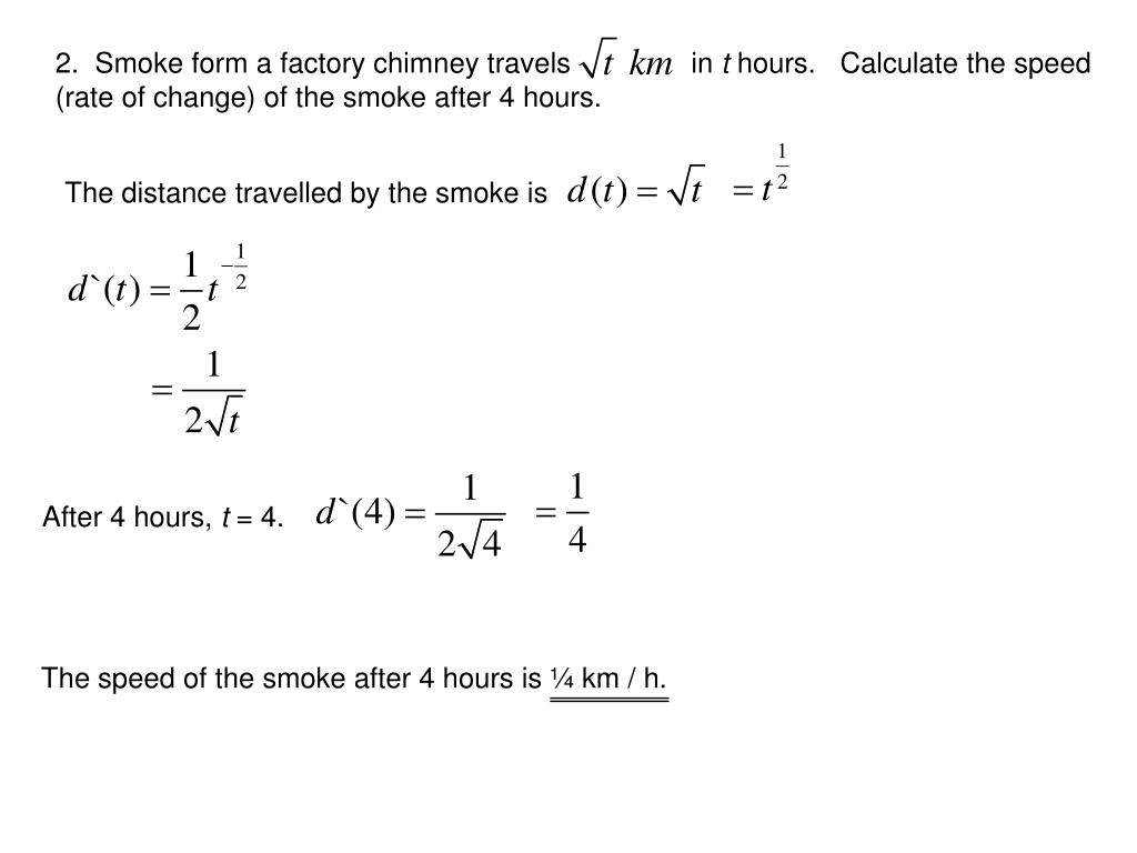 2.  Smoke form a factory chimney travels               in