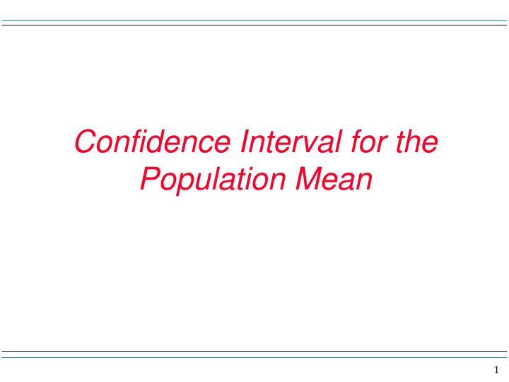 Confidence interval for the population mean l.jpg