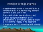 intention to treat analysis