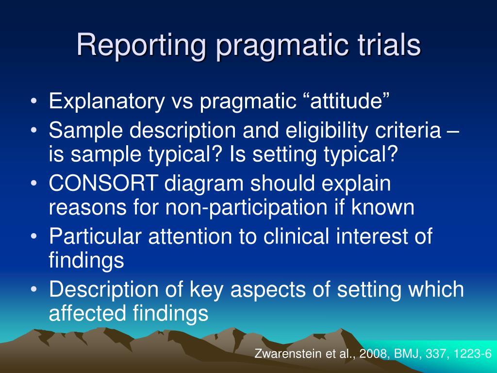 Reporting pragmatic trials