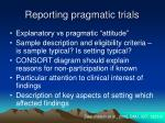 reporting pragmatic trials