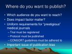 where do you want to publish
