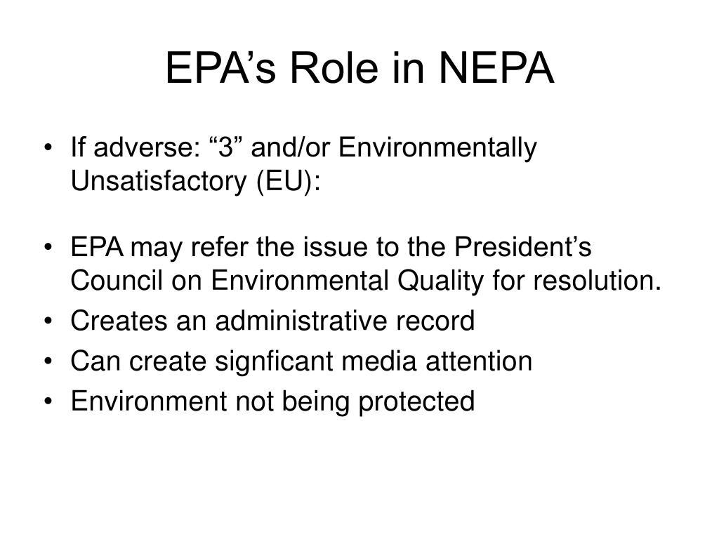 EPA's Role in NEPA