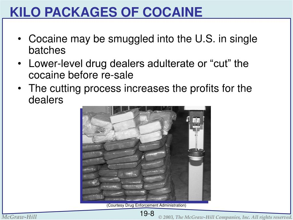 KILO PACKAGES OF COCAINE
