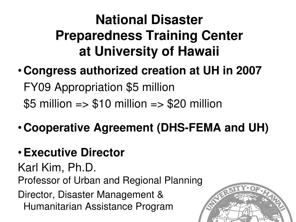 National Disaster