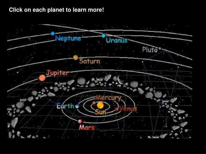 Click on each planet to learn more!