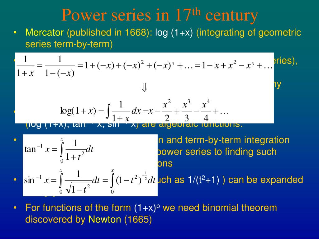Power series in 17