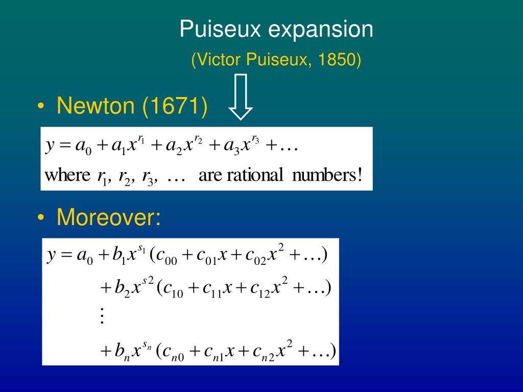 Puiseux expansion