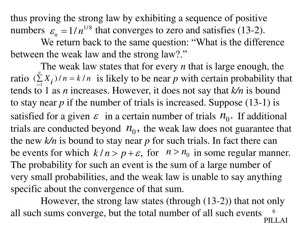thus proving the strong law by exhibiting a sequence of positive
