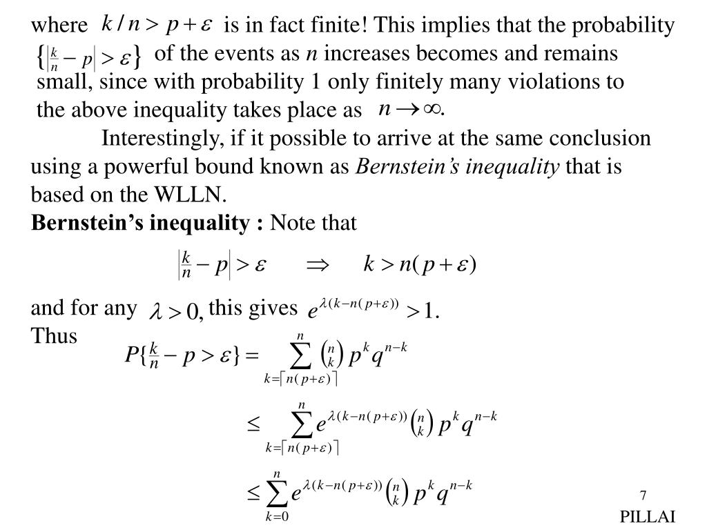 where                       is in fact finite! This implies that the probability