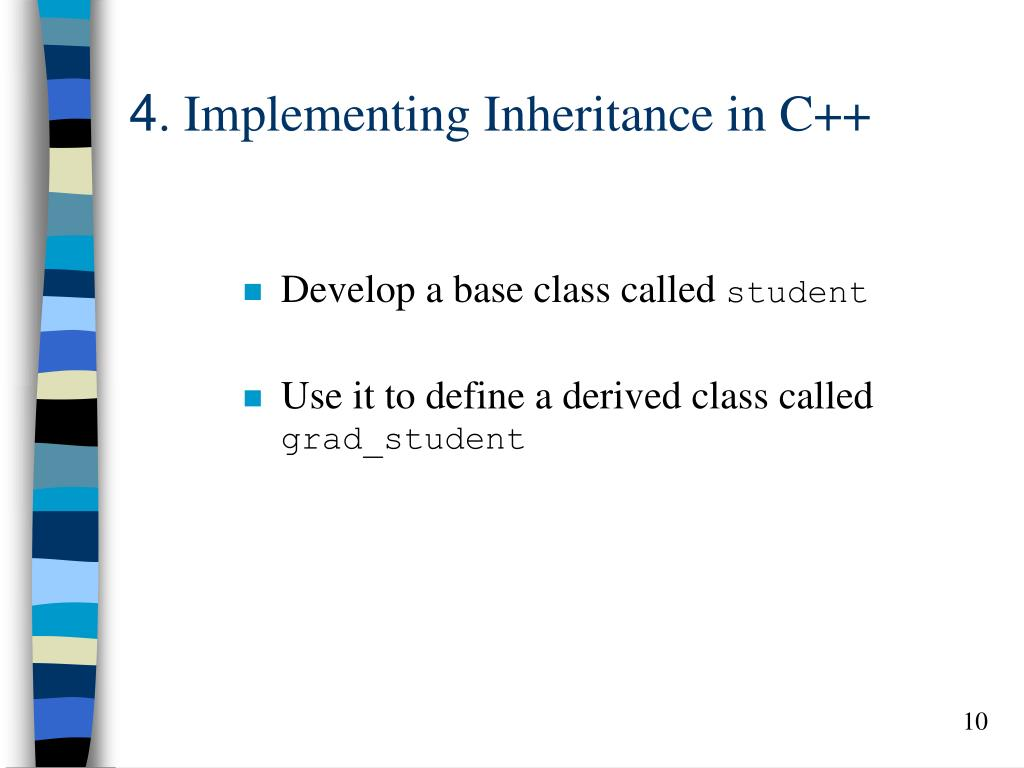 4. Implementing Inheritance in C++