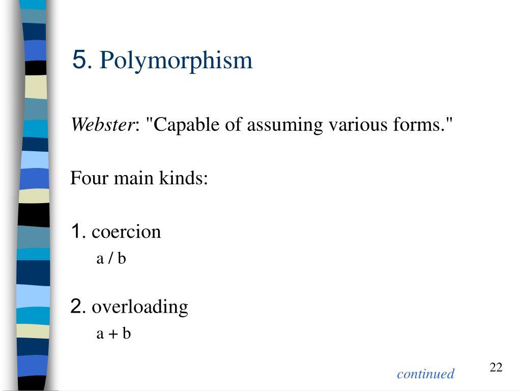 5. Polymorphism