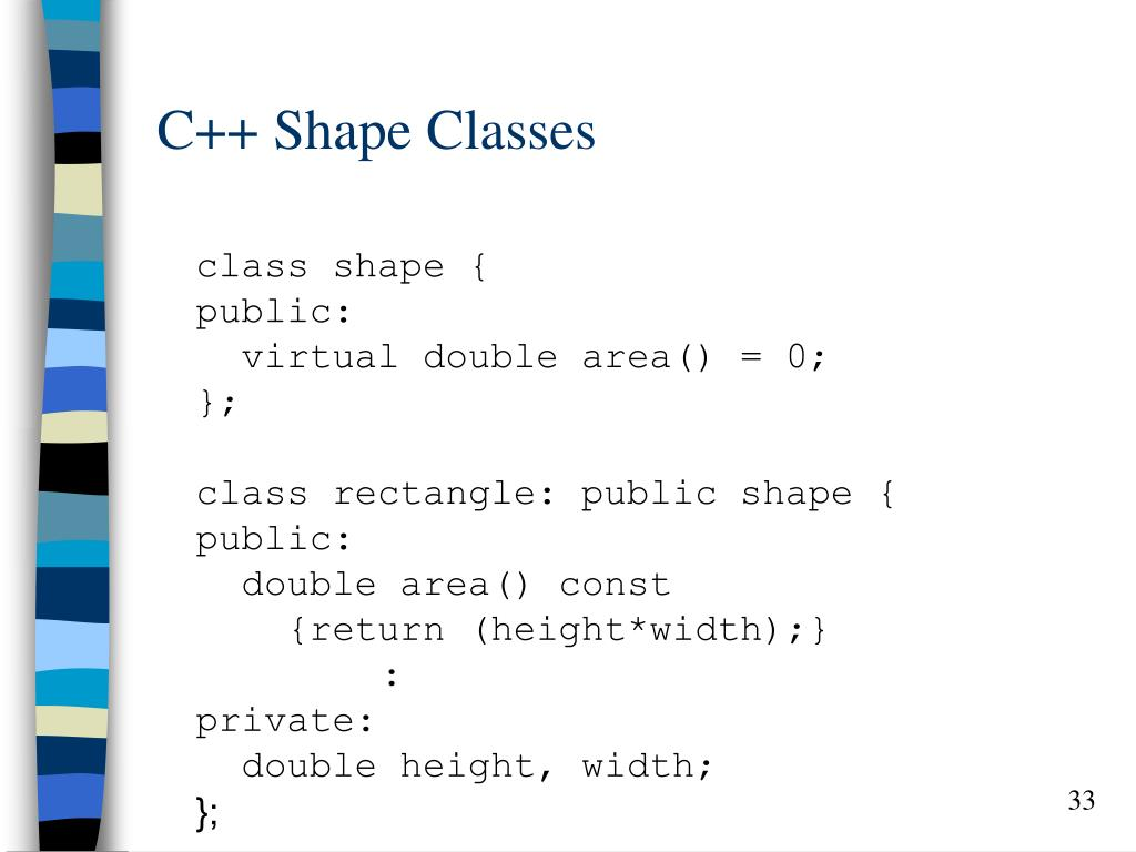 C++ Shape Classes