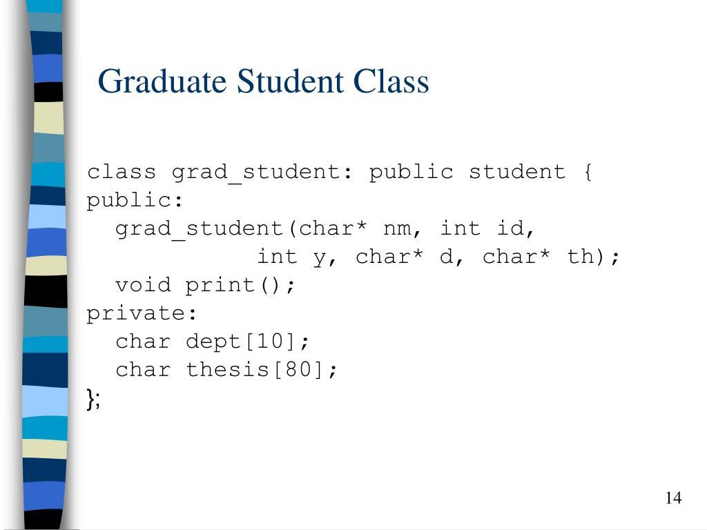 Graduate Student Class