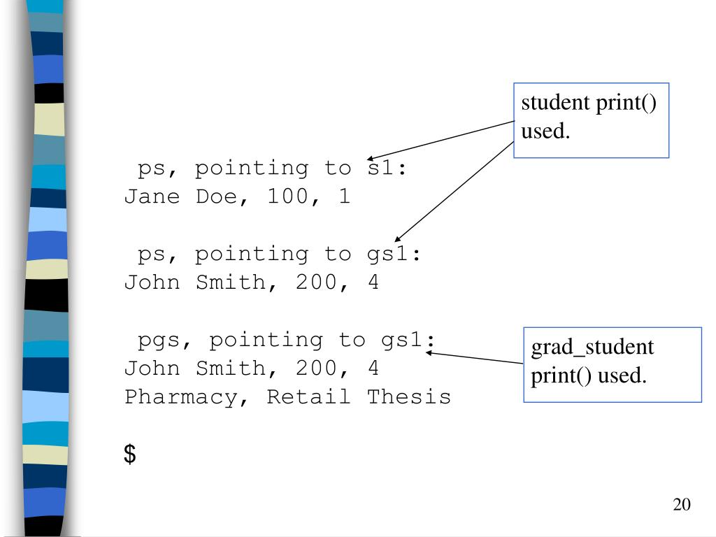 student print() used.