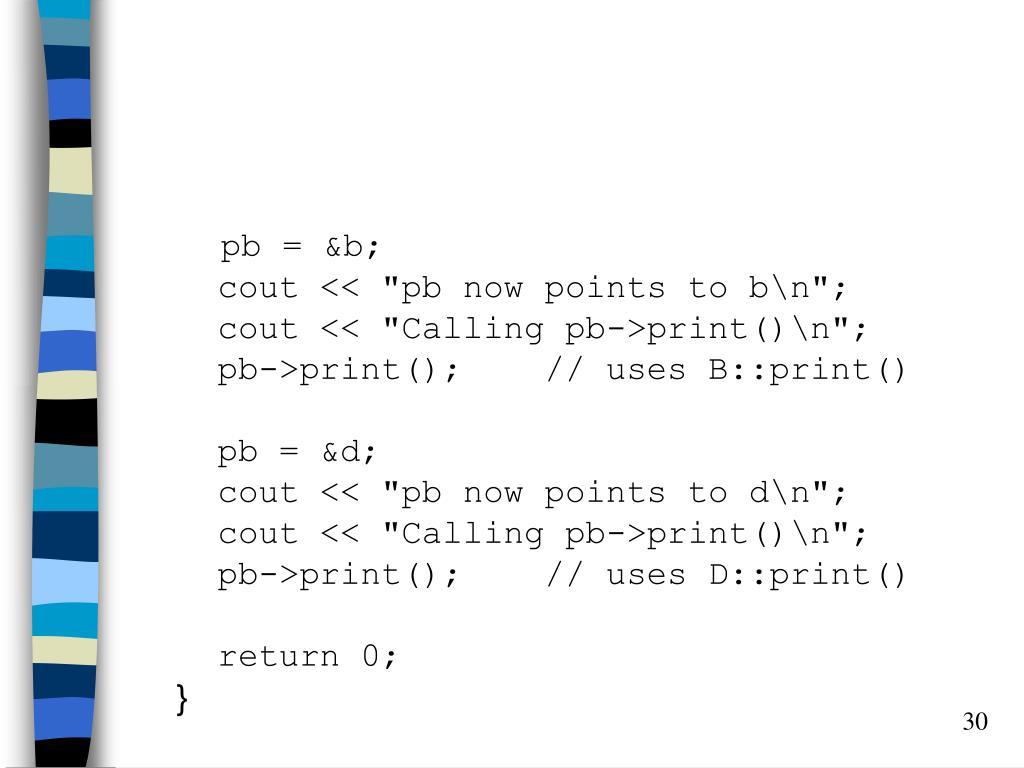 pb = &b;