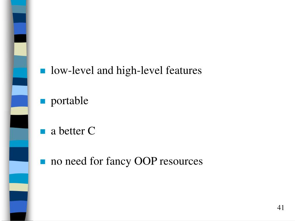 low-level and high-level features