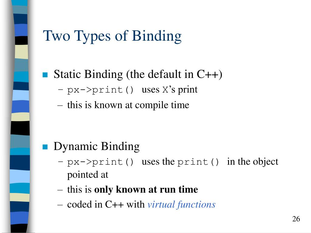 Two Types of Binding