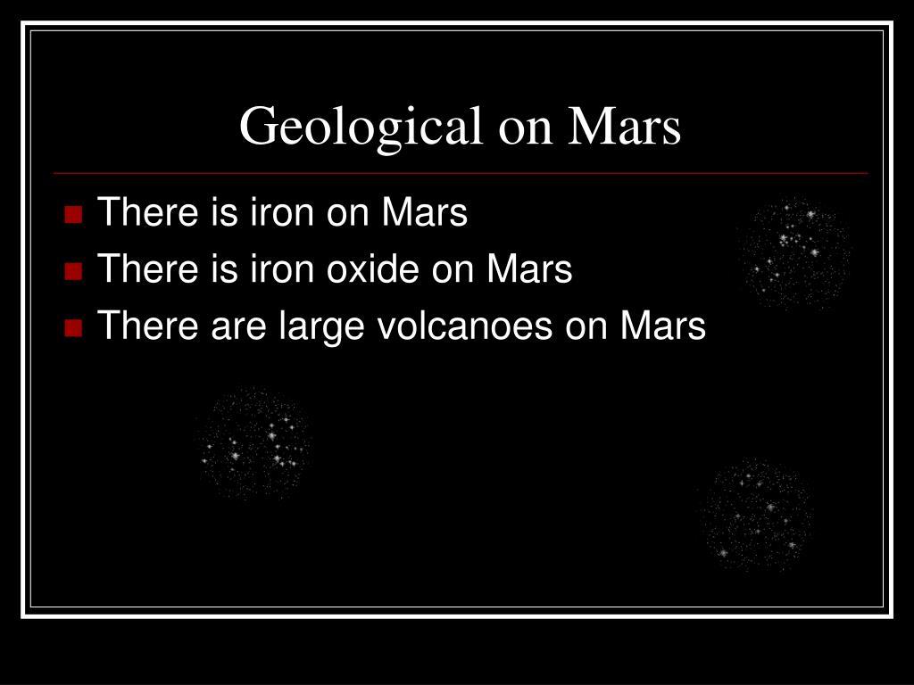 Geological on Mars