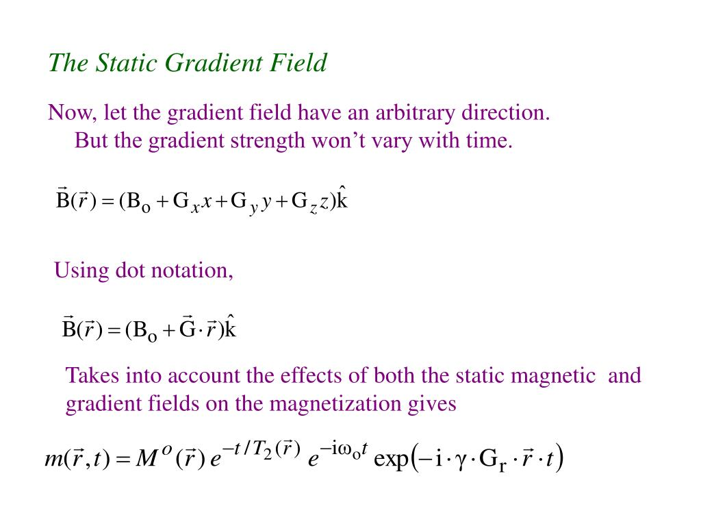 The Static Gradient Field